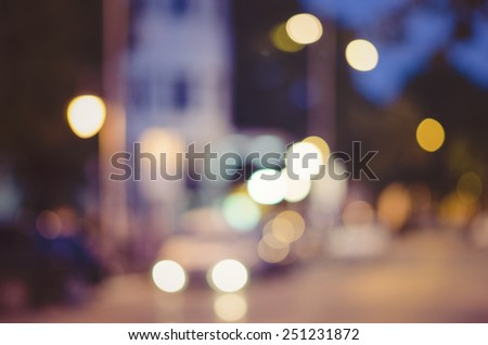 Defocused urban abstract background, artistic style and colors, filtered image for retro scent - stock photo