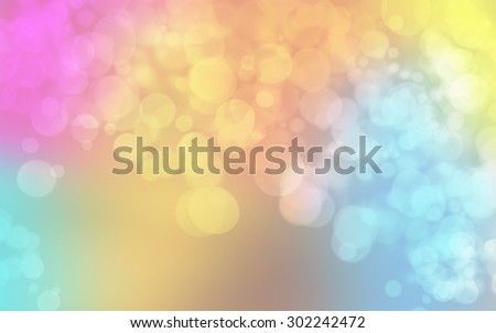 defocused white bokeh on beautiful abstract colorful background for design