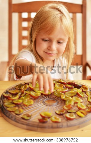 Dehydrating Fruit at Home  - stock photo