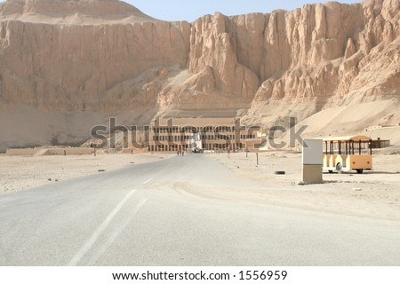 Deir El-Bahari, Luxor, Egypt. - stock photo