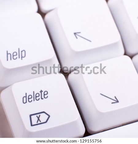 Delete computer key - stock photo