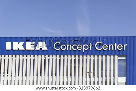 Delft; Netherlands-september 30; 2015:IKEA concept center in Delft is a company with offices around the world. The company focuses on offering furniture and home items,