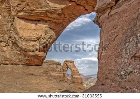Delicate Arch, Arches National Park - stock photo