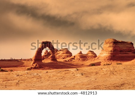 Delicate Arch, Arches national park, Utah - stock photo