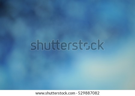 Delicate bright festive blue white soft blurred Christmas background banner