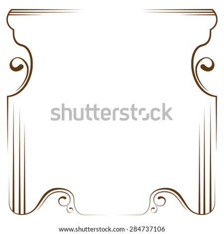 delicate frame on a white background - stock photo