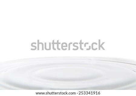 delicate Milk Splash  - stock photo