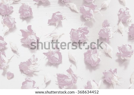 delicate pastel pattern of pink roses, background - stock photo
