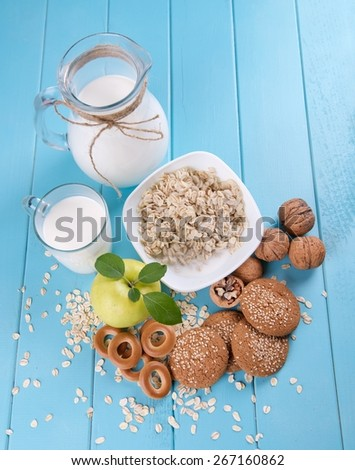 delicious and healthy breakfast - stock photo