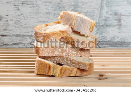 delicious and healthy slices of wheat bread - stock photo