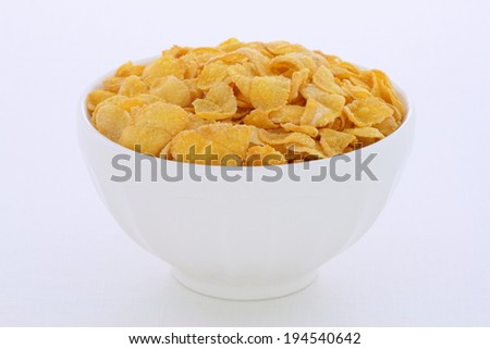 Delicious and nutritious breakfast corn flakes on retro vintage styling - stock photo
