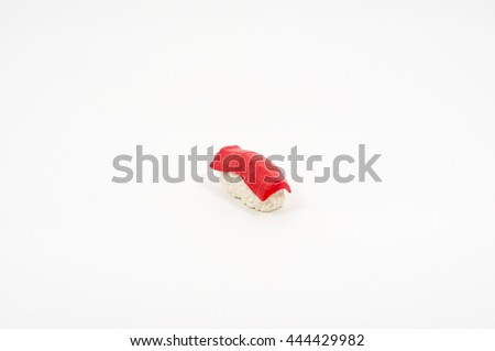 Delicious and Tasty Tuna sushi toy - stock photo
