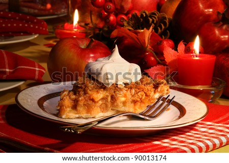 Delicious apple crumble pie for the holidays - stock photo