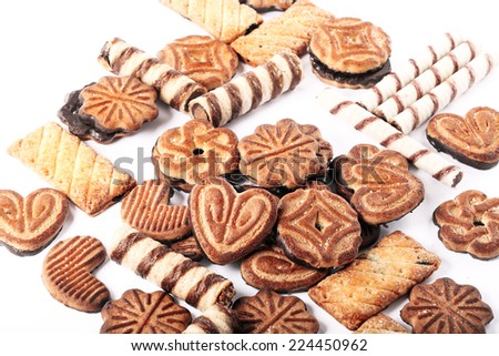 delicious assorted cookies - stock photo
