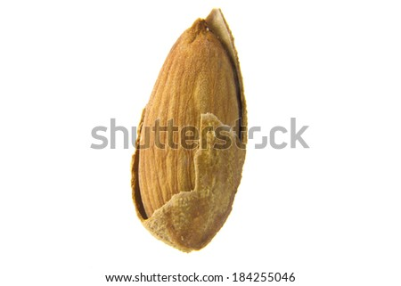 delicious baked almond isolated on the white background