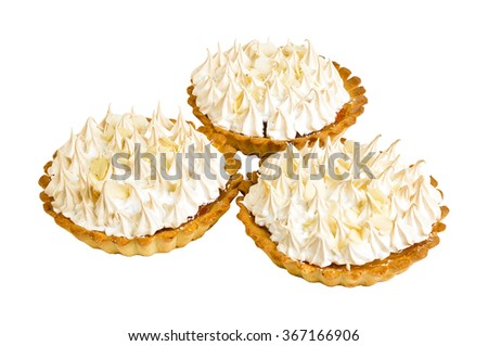 Delicious biscuit cake isolated on white background