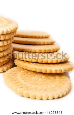 delicious biscuits isolated on a white background