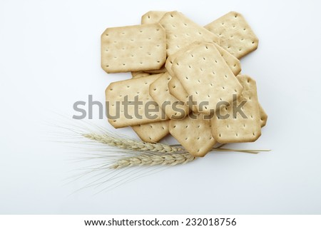 Delicious biscuits Made By Oat on a white background. - stock photo