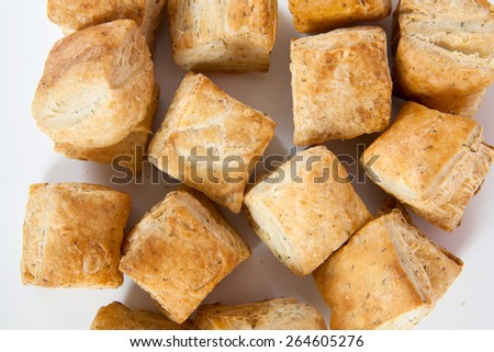 delicious bread isolated on white background.