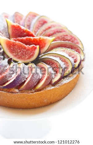 Delicious cake with fresh figs.