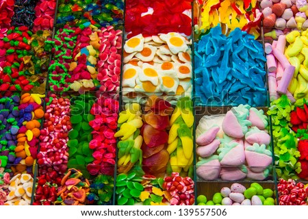 Delicious Candies with different colors - stock photo