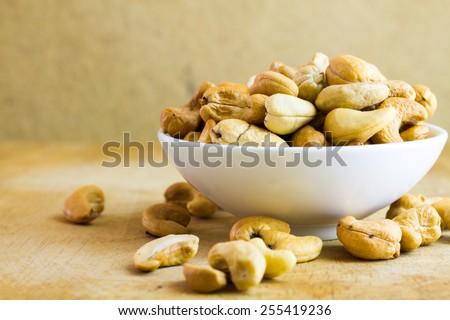 Delicious cashew readily on serve - stock photo