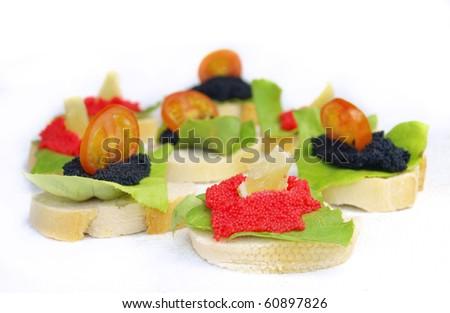 Delicious Caviar food - stock photo