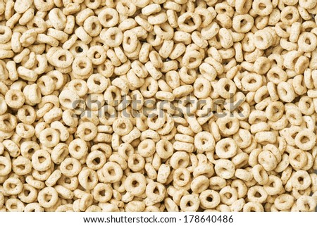Delicious Cheerios Oat Cereal in Large Pile - stock photo