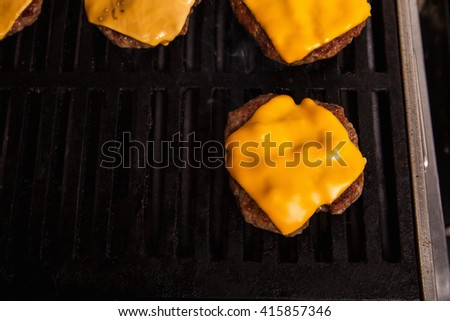Delicious Cheeseburgers Baked On Barbecue