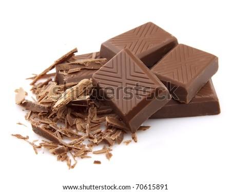 Delicious chocolate bar closeup - stock photo