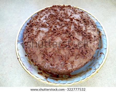 Delicious chocolate cake/Delicious chocolate cake/Delicious chocolate cake - stock photo