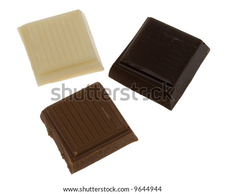 delicious chocolate isolated on a white background - stock photo