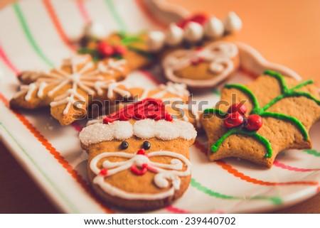 Delicious Christmas Cookies - stock photo
