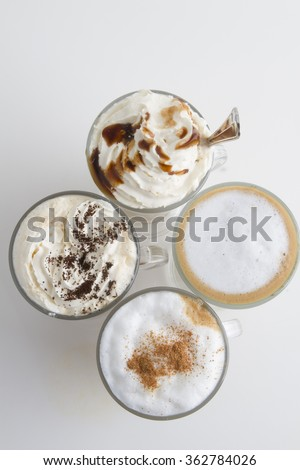 delicious coffee top view - stock photo