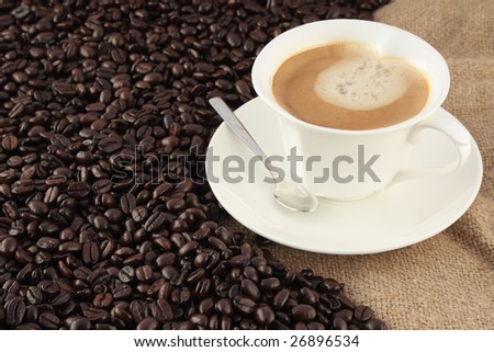 Delicious coffee with cream