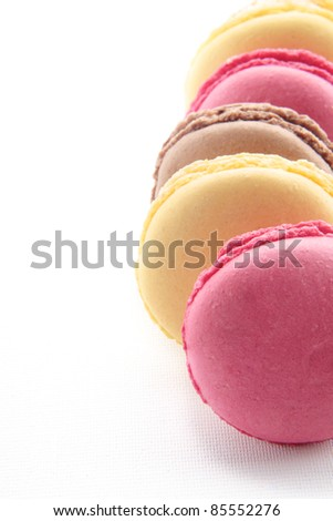 delicious colorful macaroons cake - stock photo