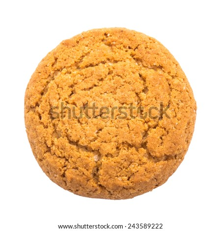 Delicious cookies on a white background - stock photo