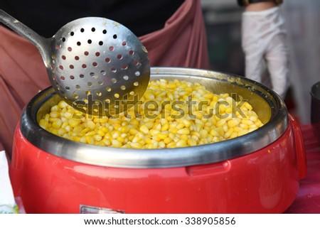 delicious corn. - stock photo