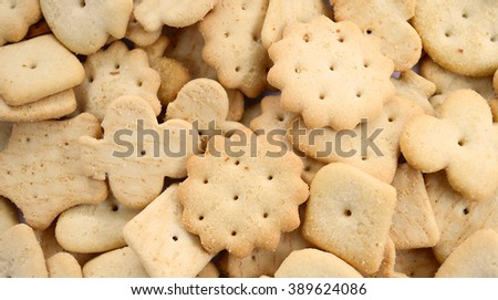 Delicious crackers background - stock photo