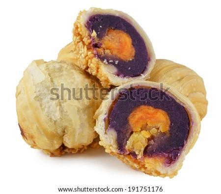 delicious dessert - Egg yolk shortcake - stock photo