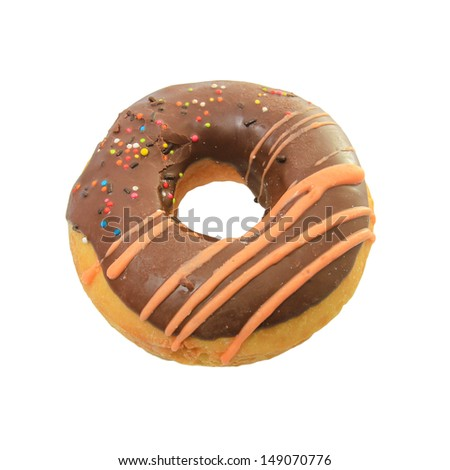Delicious Donut with orange chocolate