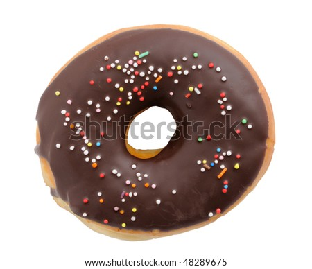 Delicious doughnut isolated over white background