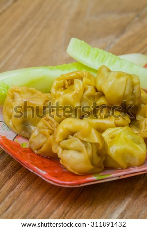 delicious dumplings boiled in fresh