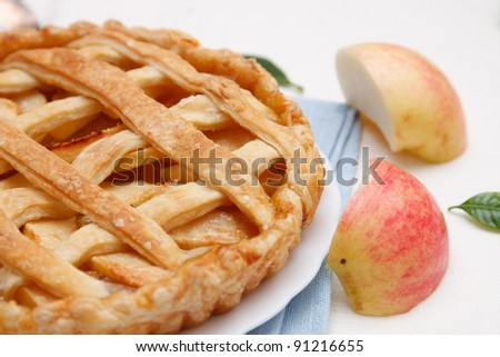 Delicious fresh baked apple pie - stock photo