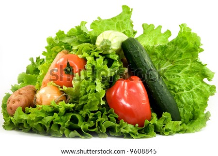 delicious fresh vegetables studio isolated