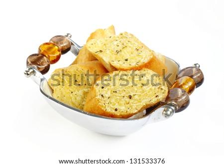 Delicious garlic bread - stock photo