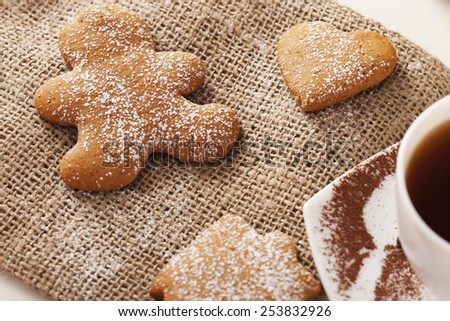 delicious ginger cookies - stock photo