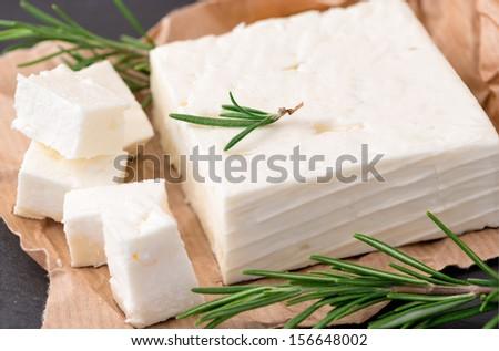 Delicious Greek feta cheese - stock photo