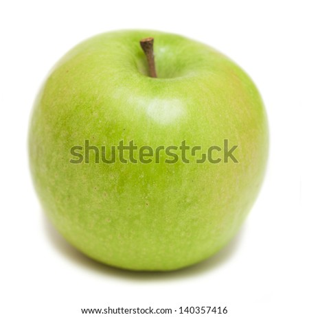 delicious green apple isolated