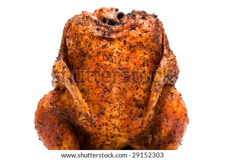 delicious grilled chicken on a white background